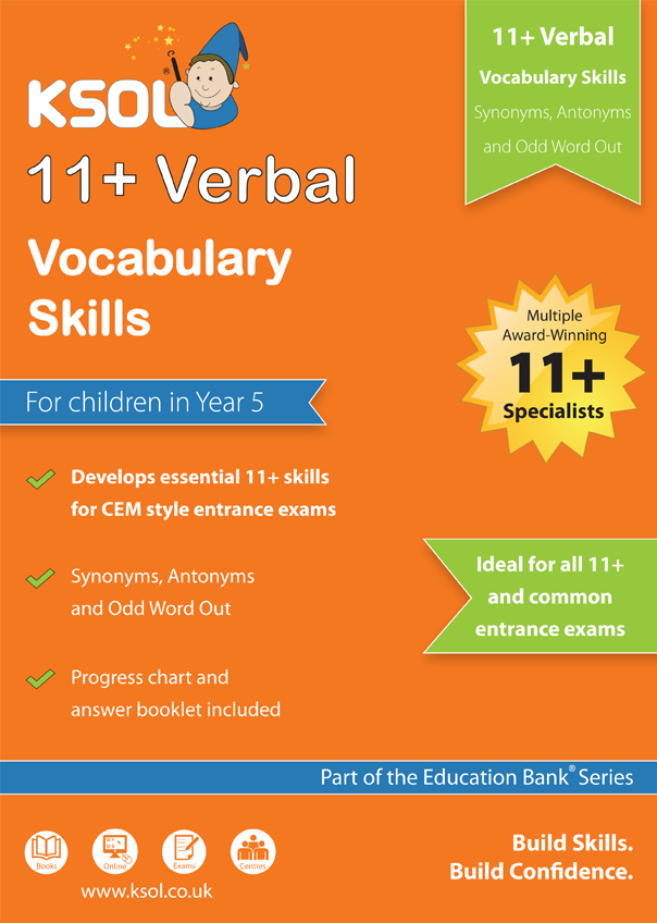 11 plus Vocabulary book