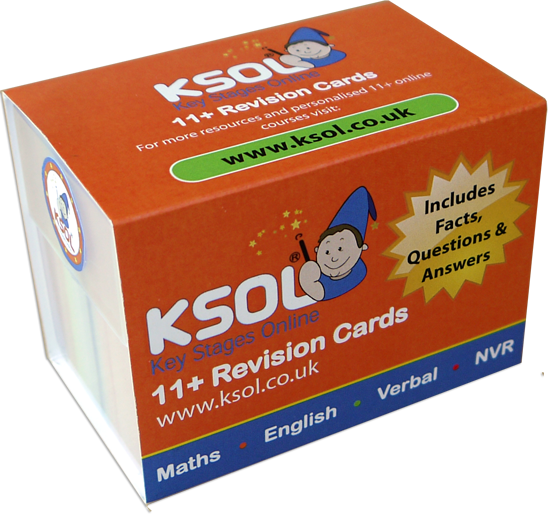 11 plus revision cards